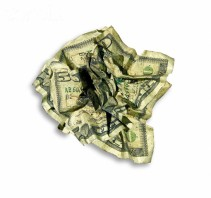 Crumpled Dirty Money