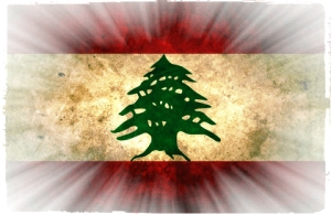 grunge flags lebanon